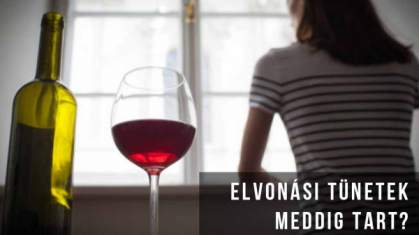 Alkohol elvonás tünetei meddig tart
