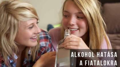 Az alkohol hatása a kiskorúakra
